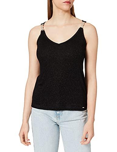 Morgan Debardeur Bijoux Epaule 211-DILAO Camisa Cami, Negro, XS para Mujer