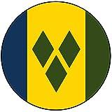 Decoración para tarta con diseño de bandera de San Vicente y las Granadinas, redondo, círculo de 20 cm, cumpleaños, fiesta, celebración, evento
