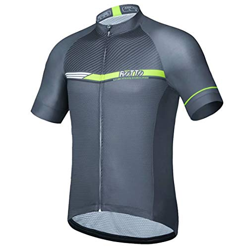 ROTTO Herren Radtrikot Fahrrad T-Shirt Kurzarm Einfache Linien Serie