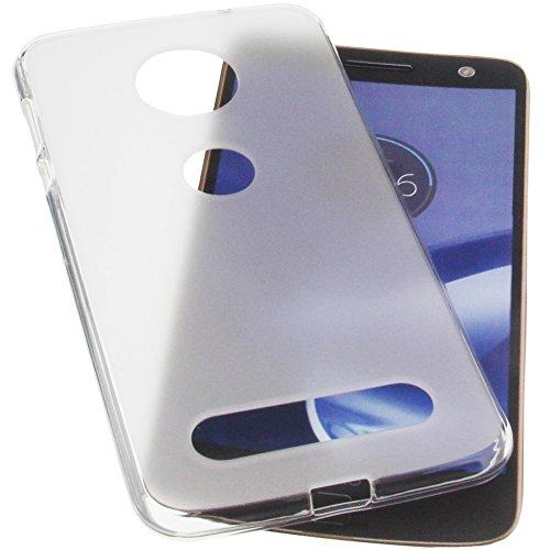 foto-kontor Tasche für Lenovo Moto Z Force Gummi TPU Schutz Handytasche transparent weiß