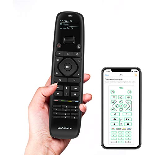 Sofabaton Universal Remote Control with APP Setting, OLED Display, Macro Button, Replace up to 15 Bluetooth & IR Devices, Harmony Remote for Smart...