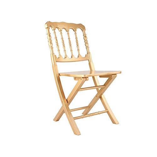 YQQ-Chaise pliante Napoléon Chaise De Salle À Manger Chaise en Bois Massif Chaise Portable Chaise De Bureau Chaise De Maquillage Chaise De Peinture Dossier