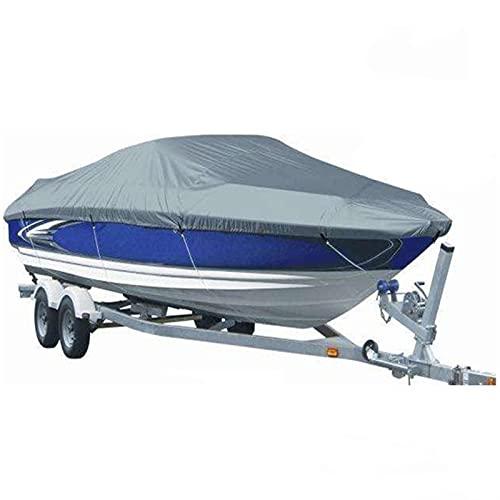 CYP Staubschutzhaube Boot Persenning, 210D Grau Bootsplane Wasserdicht Bootabdeckung Yachtabdeckung Jet Ski Abdeckung UV-Schutz Typ V Motorboot Hülle Persenning Sonnenschutz (Size : 732 * 300CM)