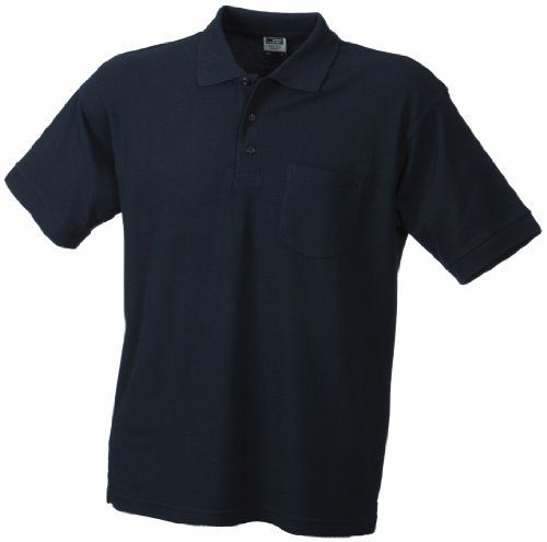 James & Nicholson JN026 Pique Pocket polo Navy XX-Large