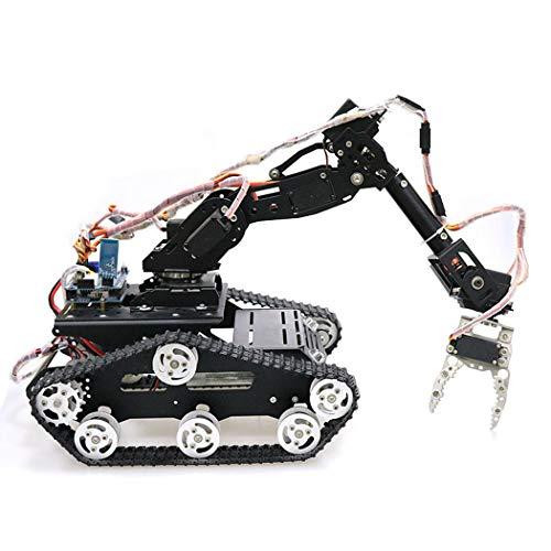 HARLT WiFi/Bluetooth/Griffsteuerung Mobiles Programmierbares Roboter-Kit Arm-Robotergreifer Mit Metall-Panzer-Chassis Für DIY RC-Robotermodell-Kit