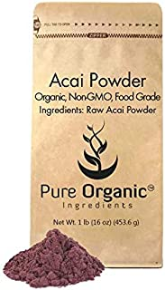 Acai Berry Powder (1 lb.) by Pure Organic Ingredients, Superfood, Freeze