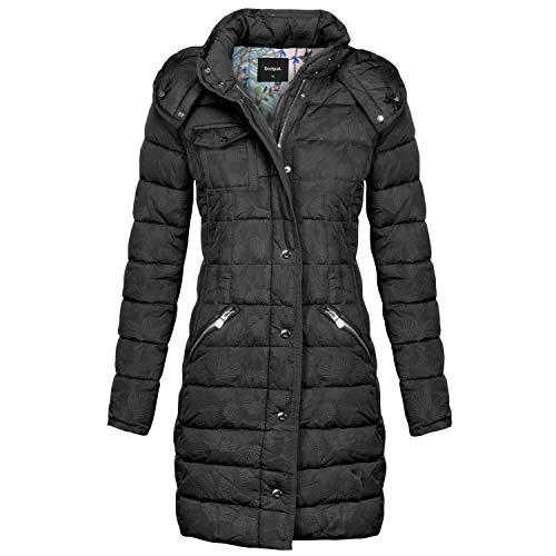 Desigual Damen Mantel Abrig_pisa,Schwarz (Negro 2000),34 EU (Herstellergröße :36)