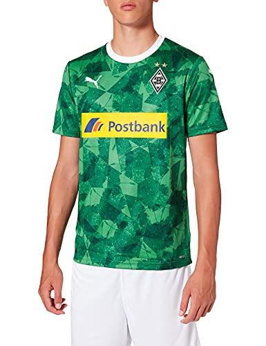 PUMA Bmg Third Shirt Replica with Sponsor Maillot, Hombre, Amazon Green Black, S