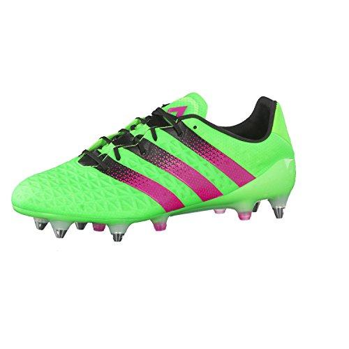 adidas Ace 16.1 SG, Botas de fútbol Hombre, Verde/Rosa/Negro (Versol/Rosimp/Negbas), 44 2/3 EU