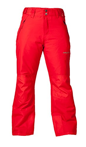 Arctix Youth Snow Pants with Reinforced Knees and Seat, Formula One Red, Small