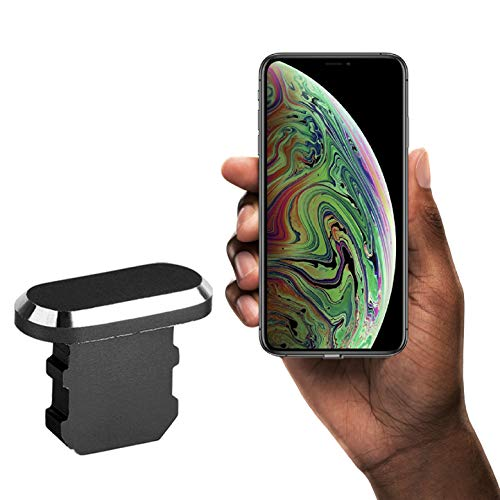 innoGadgets Anti-Dust Plug Compatible with iPhone 7/8/X/Xr/Xs/11/11Pro | Dust Cap, Dust Protection - Lightning Connector Cover | Black