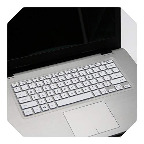 """Housse de clavier pour ordinateur portable Dell 2019 Inspiron 14"""" 5000 Series 5488 5482 5485 5481 5455 5447 i5379 i5482 i5481 i5485 Blanc"""