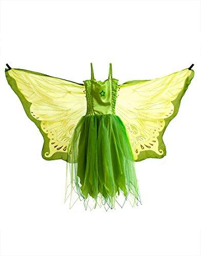 Dreamy Dress-Ups 50884 Dress, Fly-Away-Kleidchen, Green Fairy, Elf/Fee grün, S 4-5 YRS
