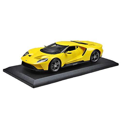 GAOQUN-TOY 1:18 Ford GT Concept Car Voiture de Sport 2017 Alliage Modèle de Voiture de Simulation (Couleur : Le Jaune, Taille : 26.4cm*12.5cm*6cm)