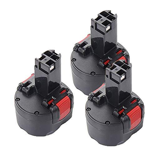 MANUFER 3,0Ah Ni-Mh 9,6V Ersatzakku für Bosch BAT048 BAT100 BAT119 2607335272 2607335461 PSR960 Gsr 9.6 Gsr 9.6VE-2 PSR 9.6VE-2 23609 3 Stück