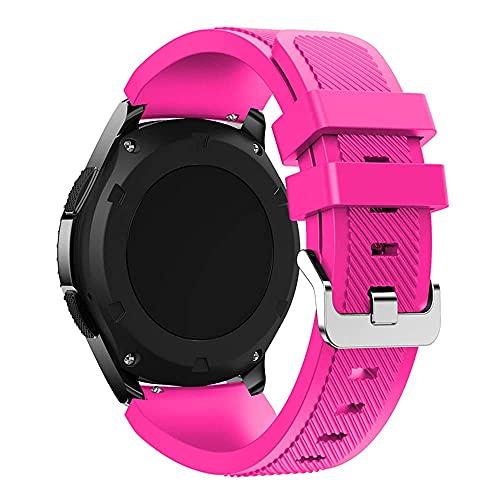 Correas de Silicona 22mm Compatible con Huawei GT2 Pro / GT, Pulseras para Mujer y Hombre Compatible con Samsung Gear S3 Frontier/S3 Classic, Watch Straps, Polvo de Barbie