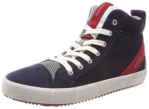 Geox Geox J Alonisso Boy A Hohe Sneaker, Blau (Navy/Grey), 39 EU