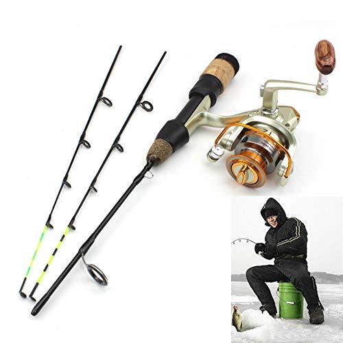 NEIKEY 58 cm 2 pulgadas invierno hielo caña de pescar puntas spinning rod y carrete conjunto muy ligero fibra de carbono carpa de hielo pesca Dongdiao (longitud 58 cm)