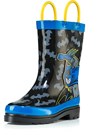 DC Comics Batman Boy's Rain Boots - Size 1 Little Kid