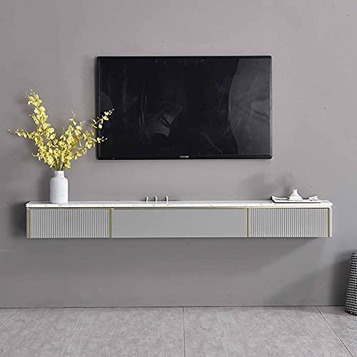 Mueble de TV Flotante, Unidad de TV Flotante, Mueble TV de Pared para enrutadores controles remotos reproductores de DVD consolas de juegos/A / 150cm