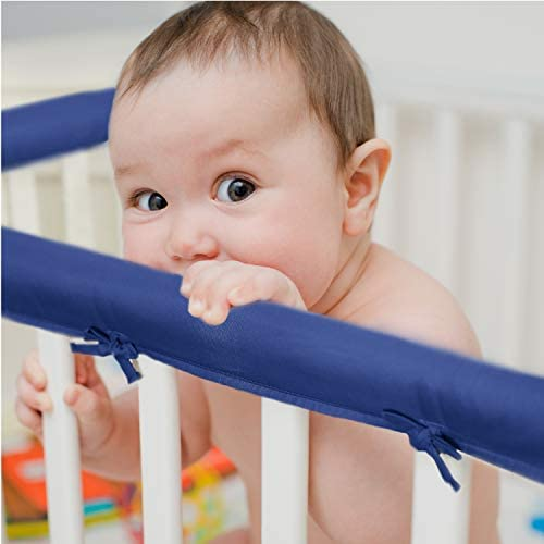 EXQ Home 3 Piece Baby Crib Rail Cover Set for 1 Front Rail and 2 Side Rails Safe Kids Padded product image