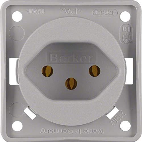Hager INTEGRO stopcontact stroom Zwitserland tipo-13 grijs mat