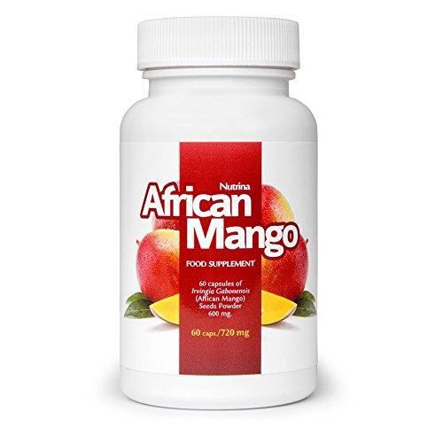 ✅AFRICAN MANGO Premium: quema grasa eficaz, quemadores de grasa, supresores del apetito, adelgazar rápido, saludable y desintoxicante, paquete básico 60 cápsulas / 720 mg