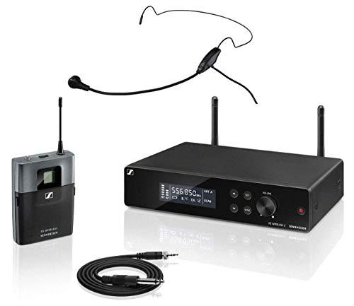 Sennheiser XSW 2-CI1 Instrumental complete set (all-in-one draadloos systeem met True-Diversity-ontvanger en externe antenne, in set incl. headset in zwart met nekbeugel)