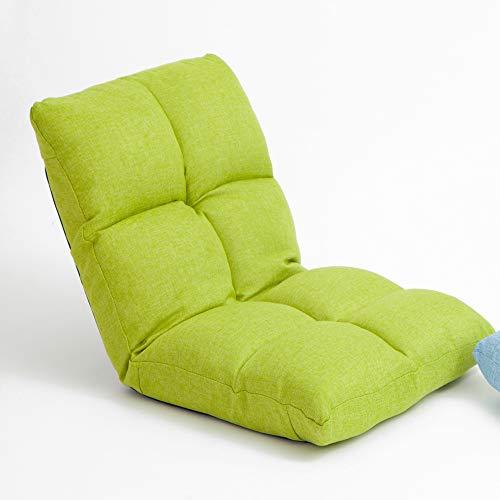 Fuerte Tela Sofá Cama Sofá Cama con Cojines Silla de Salón Respaldo Ajustable Removable Piso Lavable Silla de Sofá Acolchado Hermosa (Color : Green)