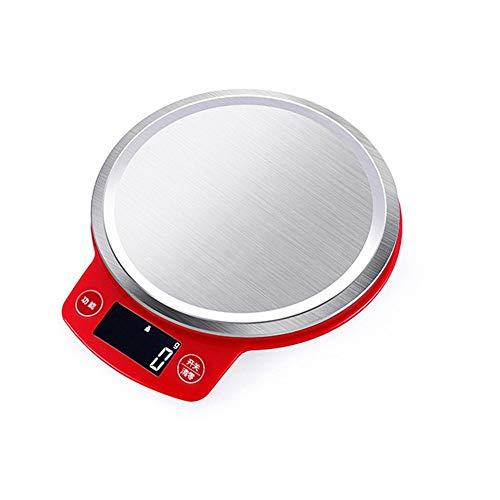 Nvshiyk Balanza electrónica de Alimentos Pastel de pesaje de Alta sensibilidad Inicio de Cocina electrónica es fácil de Limpiar y almacenar for la Cena o Hornear el Pastel Fácil de Limpiar