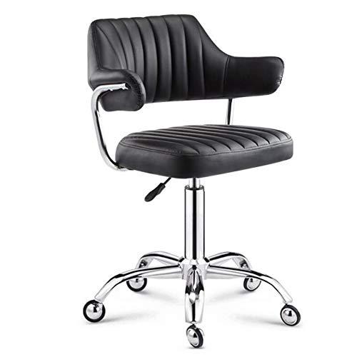 NACHEND verstelbare draaibare kruk draagbare chroom werkstoel op wielen met rugleuning voor Beauty Office Salon Massage