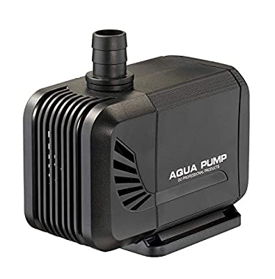 LNSTUDIO Submersible Pump 2500L/H Mini Water Pump?Mini Fish Tank Fiiter for Aquarium, Fish Tank, Water Fountain, Hydroponic Pond with 3 Nozzles and 4 Strong Suction Cups (35W)