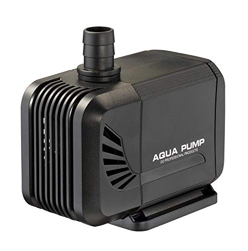 LNSTUDIO Submersible Pump 2500L/H Mini Water Pump,Mini Fish Tank Fiiter for Aquarium, Fish Tank, Water Fountain, Hydroponic Pond with 3 Nozzles and 4 Strong Suction Cups (35W)