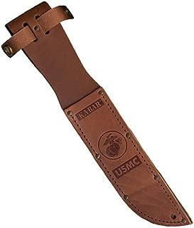 KA-BAR 1217S, Leather Sheath, USMC Logo, Fits Knife with 7