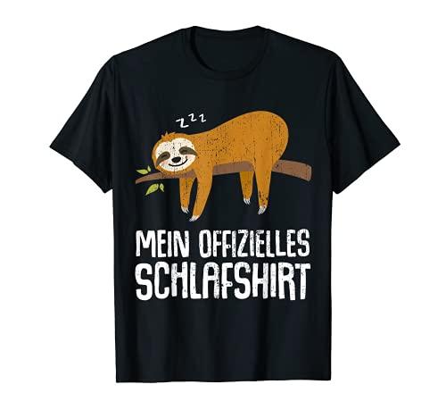 Pyjama Nachthemd Schlafshirt Schlafanzug Faultier Geschenk T-Shirt