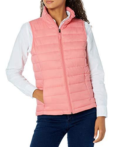 Amazon Essentials Damen Lightweight Water-resistant Packable Puffer Vest Weste, Rosa, XL