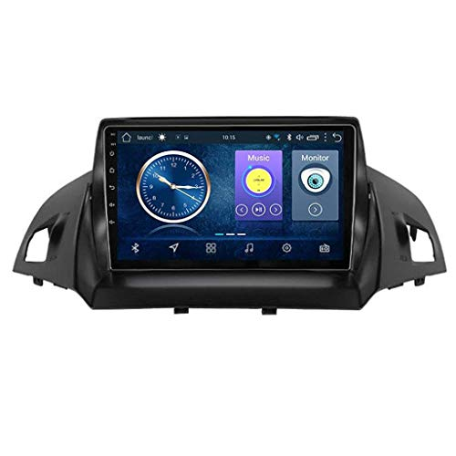 GLFDYC Android 8.1 GPS Navigation Autoradio, 9' HD Touch Screen Bildschirm Stereo TV, für Ford Kuga Escape C-Max 2013-2016, mit Lenkradkontrolle Bluetooth Hands-Free Calls Mirror Link,4G+WIFI1G+16G