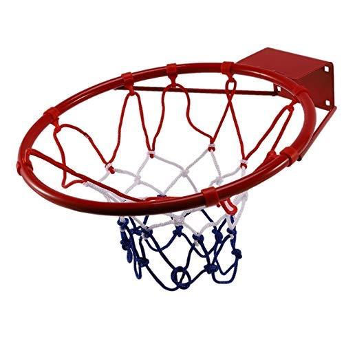 Red de Baloncesto Borde de aro de Baloncesto montado en la Pared para niños y Adultos Canasta de Baloncesto Juego de Deportes de Baloncesto para Interiores y Exteriores Juego de Juguetes Rede