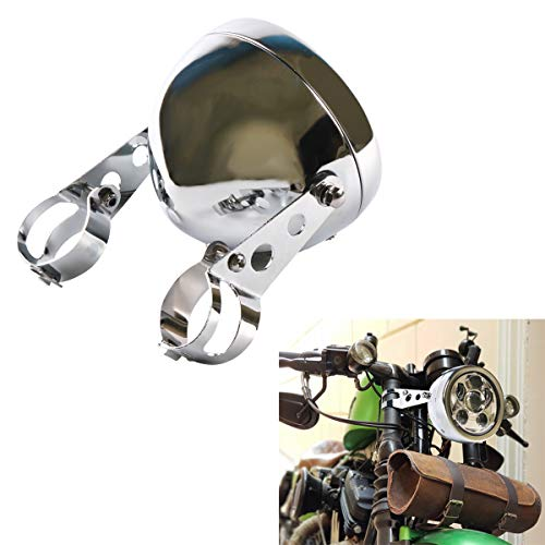 DDUOO 5.75inch Motorcycle Headlight Housing Chrome Headlight Bucket for Cafe Racer Cruiser Honda Shadow Suzuki Kawasaki Metric Bikes