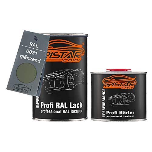 TRISTARcolor RAL 6031 Bronzegrün glänzend 2K Autolack 1,5 Liter / 1500 ml Dose inkl. Härter