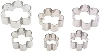 HARQ9 Ateco 7806 Plain Edge Daisy Cutters in Graduated Sizes, Stainless Steel, 6 Pc Set,