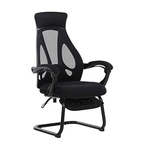 Silla de escritorio de oficina Silla de oficina Silla arco Descanso for comer Silla reclinable Gaming Internet Cafe silla del personal reclinable silla del acoplamiento con reposapiés (opcional) para