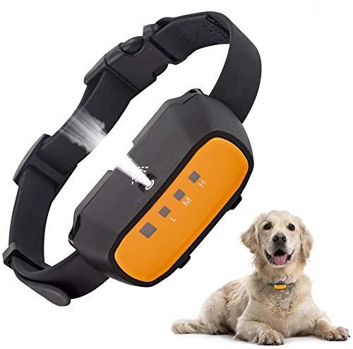 ULTPEAK Collare Antiabbaio Ultrasuonia per Cani, Dispositivo Ultrasuoni Anti Abbaiamento, Impedisci al Cane di Abbaiare con Spray Sicuro e Segnale Beep, Collare per Cani da Addestramento Ricaricabile