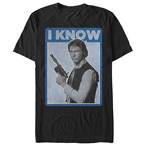 Star Wars Han Solo Quote I Know Mens Graphic T Shirt Black X-Large