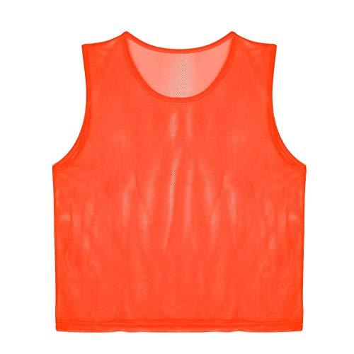 VGEBY 12pcs Gilet Calcio per Adulti, Pettorine da Allenamento per Calcio Pallavolo Pallacanestro (Colore : Arancione) calcio fratini casacca casacche uomo calcio fratini casacca casacche uomo