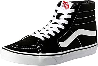 Vans SK8-Hi Classic Unisex-Adults Hi Top Lace-up Sneaker, Black (Black/White), 9.5 UK (44 EU)