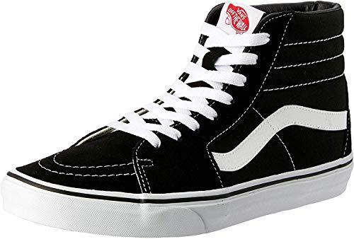 Vans Adult SK8-Hi Core Classics, Black/Black/White , Men's 8