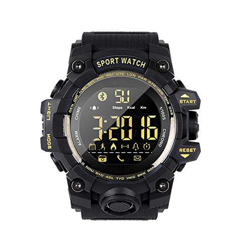 NUELLO Salud Y Estado Físico Rastreador De Ejercicios,IP68 Impermeable Bluetooth 4.0 Podómetro Rastreador De Actividad Pulsera Deportiva Smartwatch para Hombre-Negra