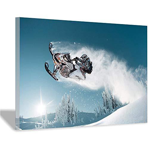 Ski Hintergrund Leinwand Malerei Kunst Poster und Drucke Moderne Kunst Wohnzimmer Schlafzimmer Dekoration Wandbild