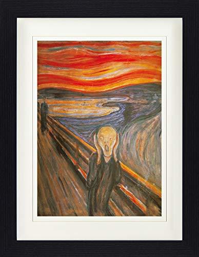 1art1 Edvard Munch - Der Schrei, 1893 Gerahmtes Bild Mit Edlem Passepartout | Wand-Bilder | Kunstdruck Poster Im Bilderrahmen 40 x 30 cm
